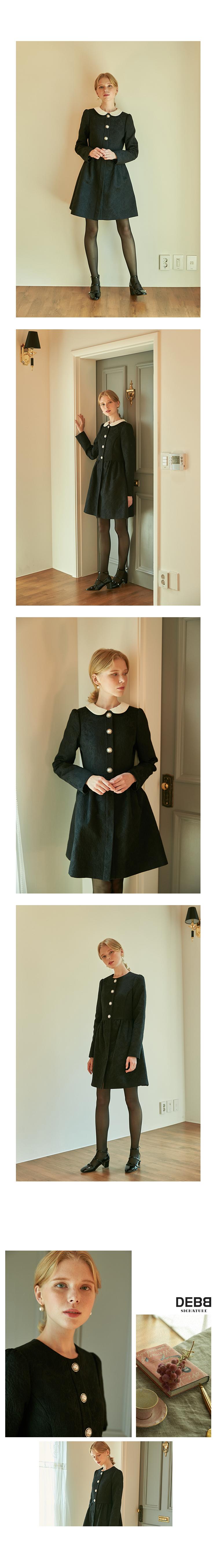 뎁(DEBB) [DEBB Signature][DACMA3001M] 블랙 자카드 드레스 자켓
